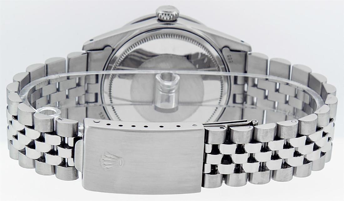 Rolex Men's Stainless Steel Black Diamond 36MM Datejust - 5