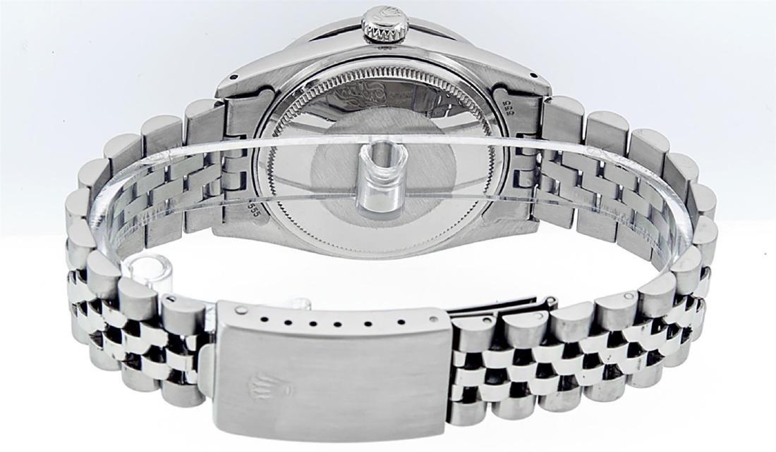Rolex Men's Stainless Steel Black Diamond 36MM Datejust - 6