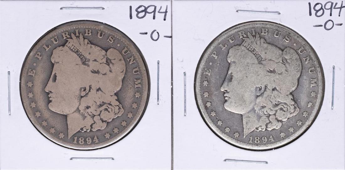 Lot of (2) 1894-O $1 Morgan Silver Dollar Coins