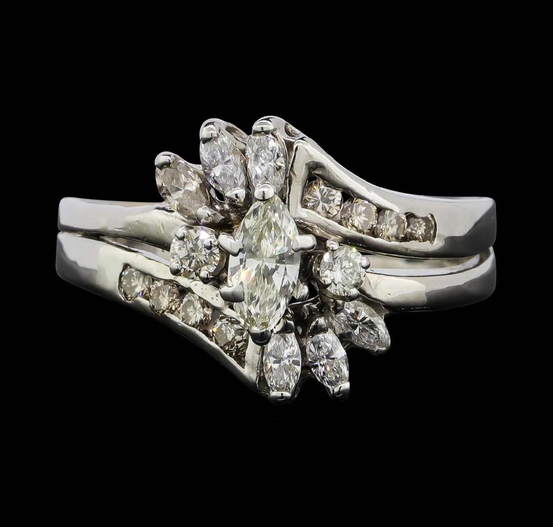 14KT White Gold 1.08 ctw Diamond Ring