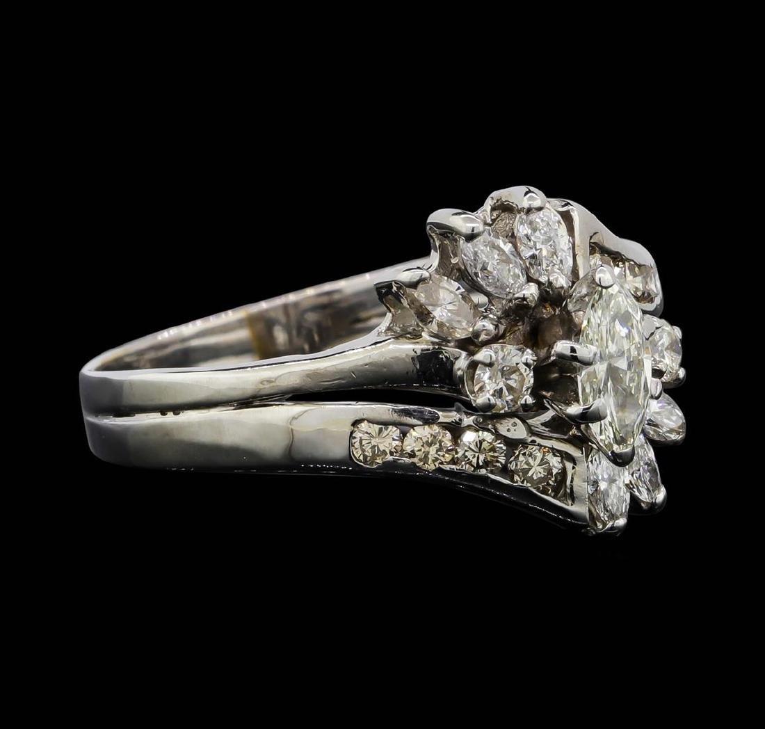 14KT White Gold 1.08 ctw Diamond Ring - 2