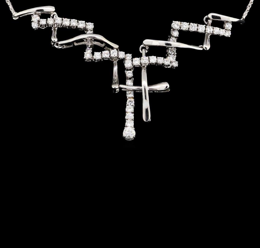18KT White Gold 3.00 ctw Diamond Necklace - 2