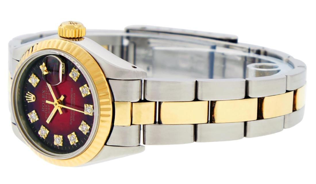 Rolex Ladies Two Tone 14K Red Vignette Diamond 26MM - 6