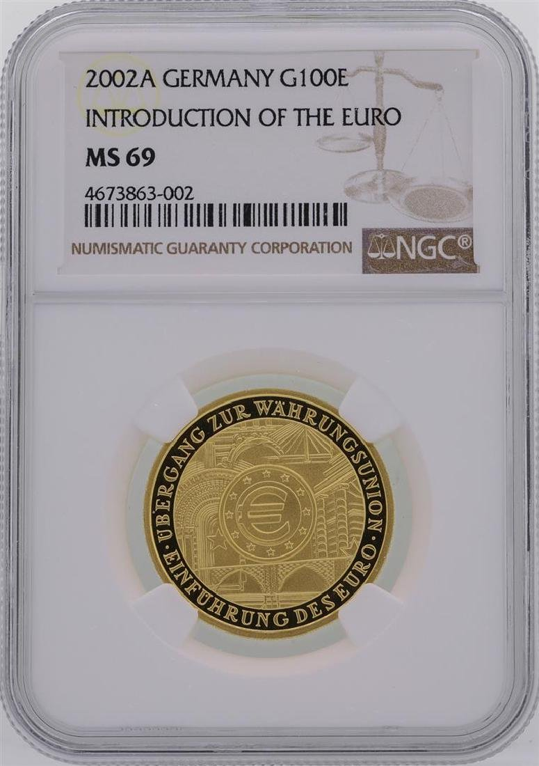 2002A Germany 100 Euro Introduction of the Euro Gold