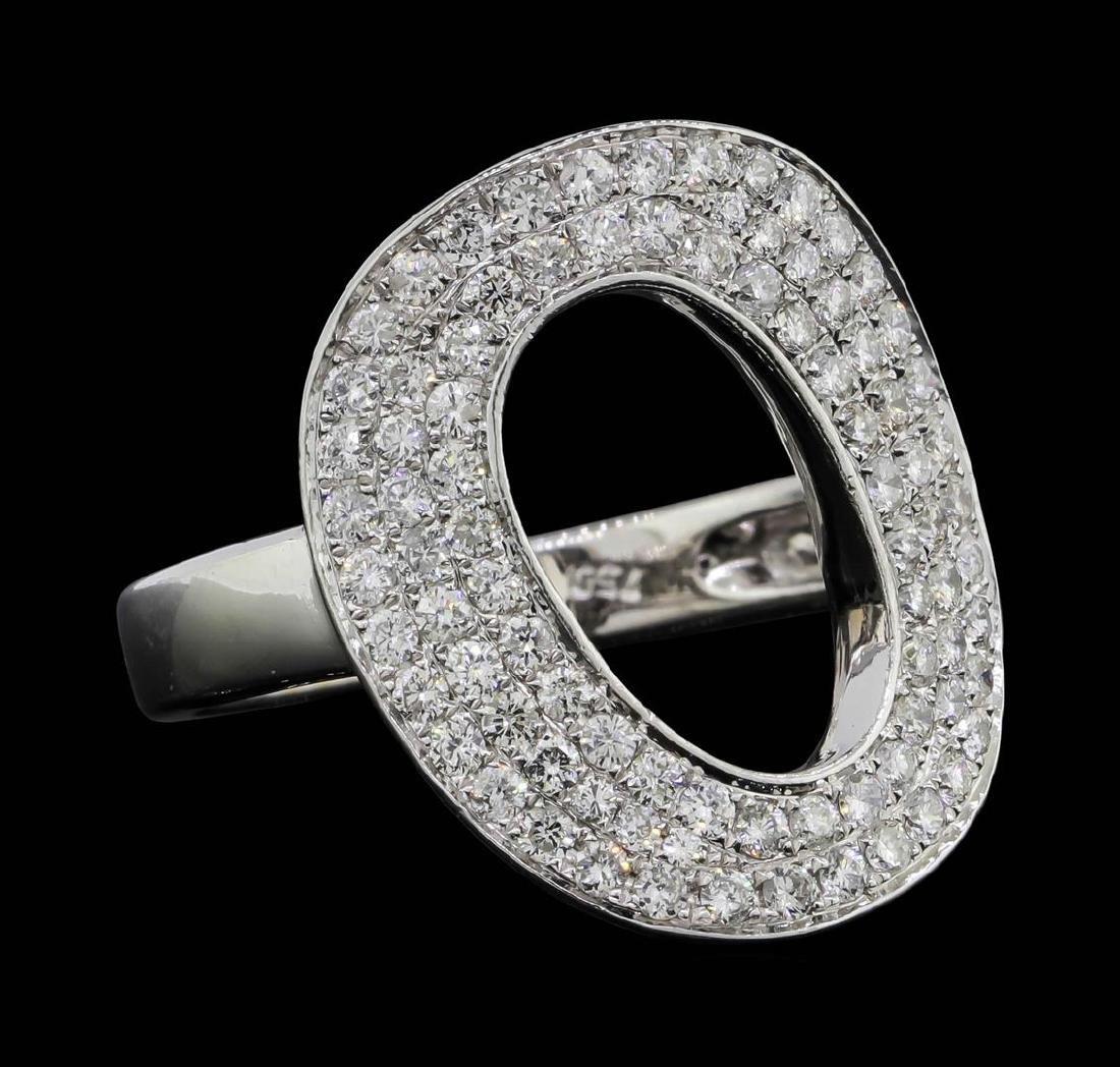18KT White Gold 1.00 ctw Diamond Ring - 2