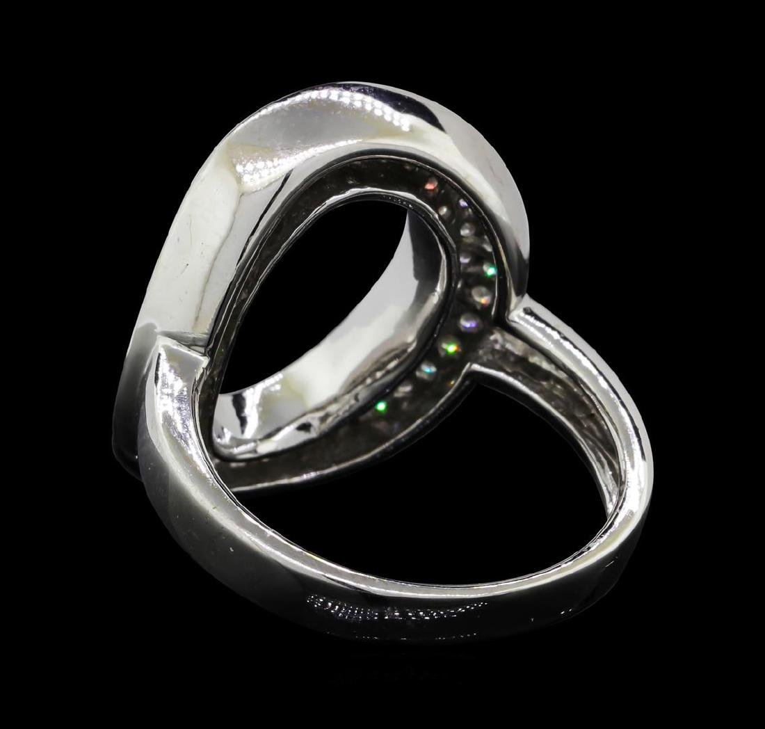 18KT White Gold 1.00 ctw Diamond Ring - 3