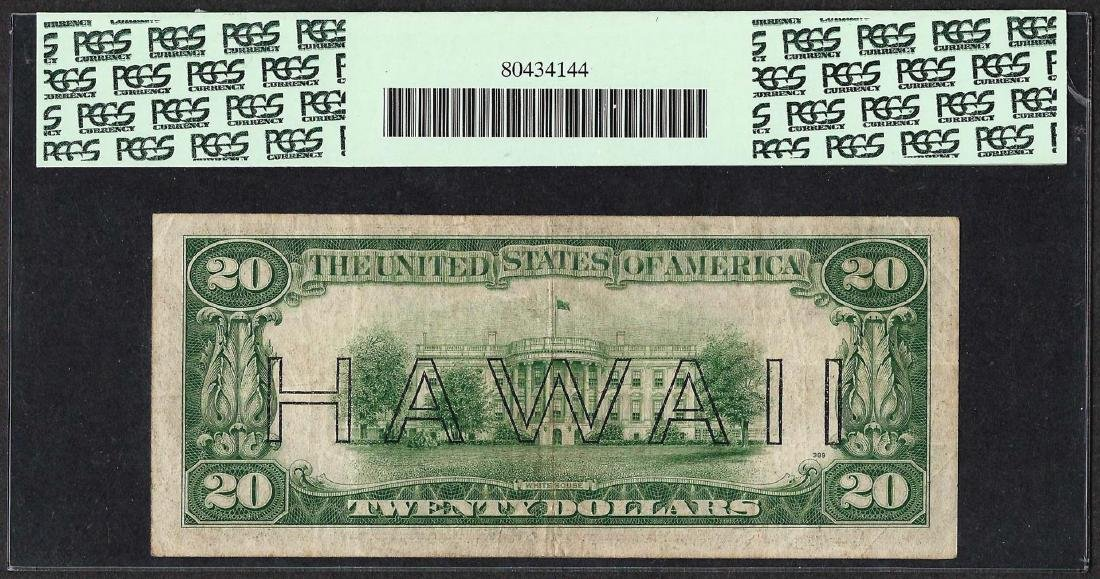 1935A $20 Hawaii Federal Reserve WWII Emergency Note - 2