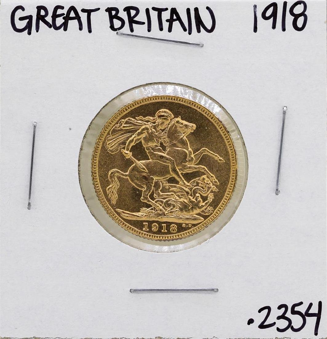 1918-I Great Britain George Sovereign Gold Coin