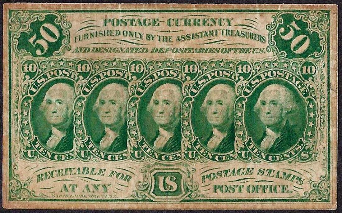 July 17, 1862 Fifty Cents First Issue Fractional