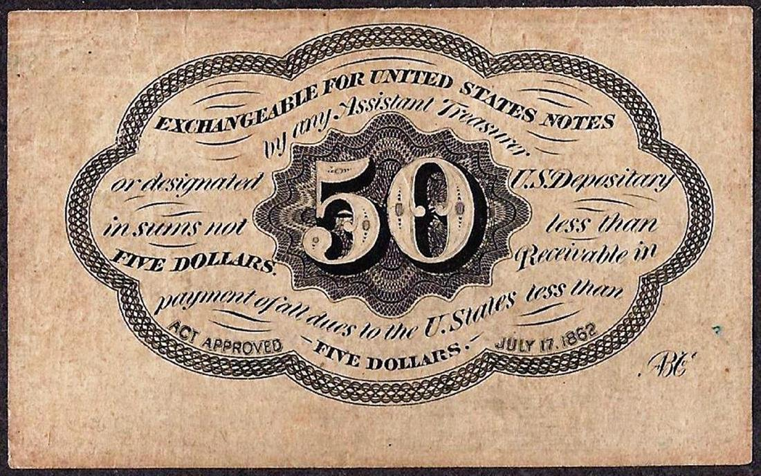 July 17, 1862 Fifty Cents First Issue Fractional - 2