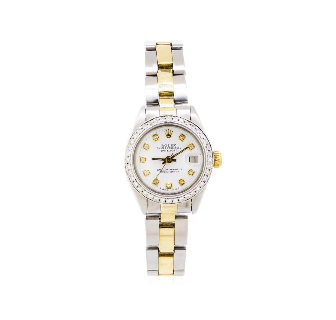 Ladies Two-Tone Oyster Rolex Datejust Watch with