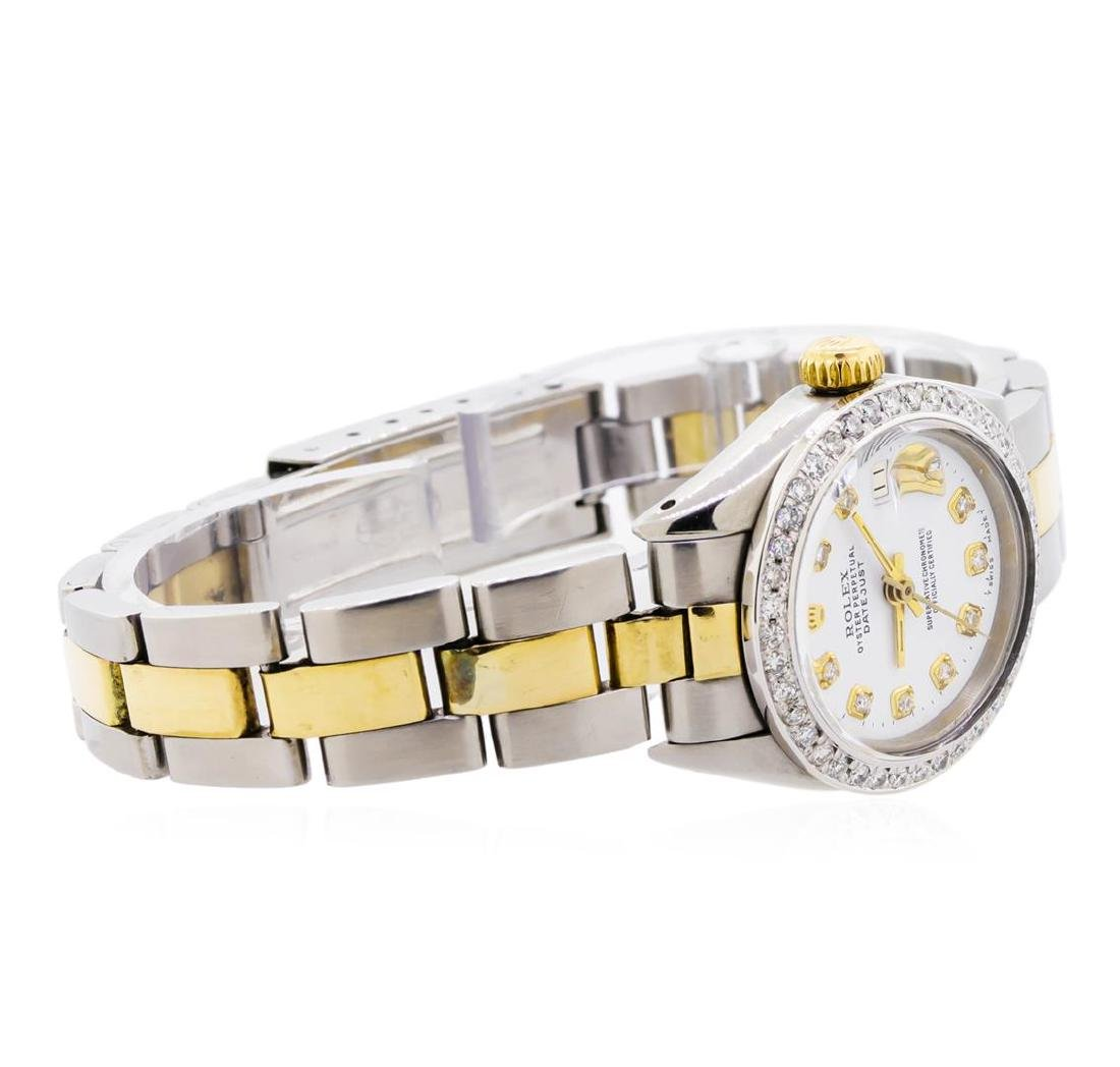 Ladies Two-Tone Oyster Rolex Datejust Watch with - 3