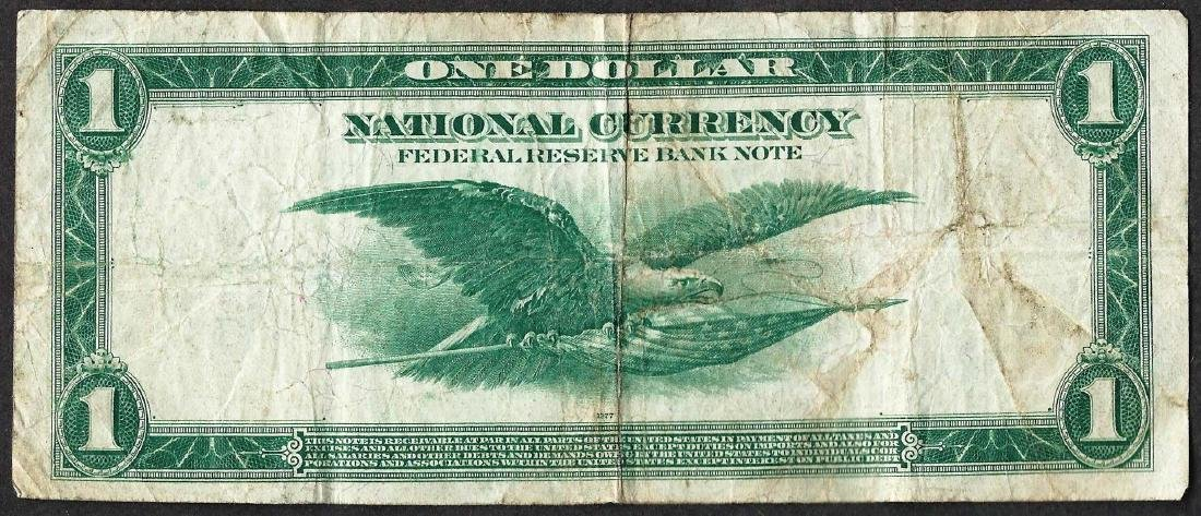 1918 $1 Federal Reserve Bank of San Francisco Note - 2