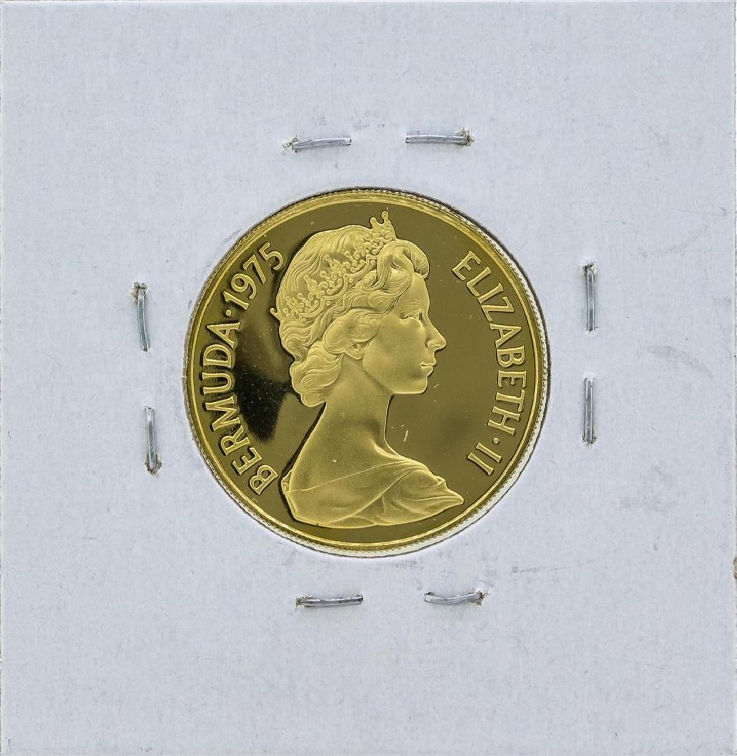 1975 Bermuda $100 Gold Proof Coin - 2