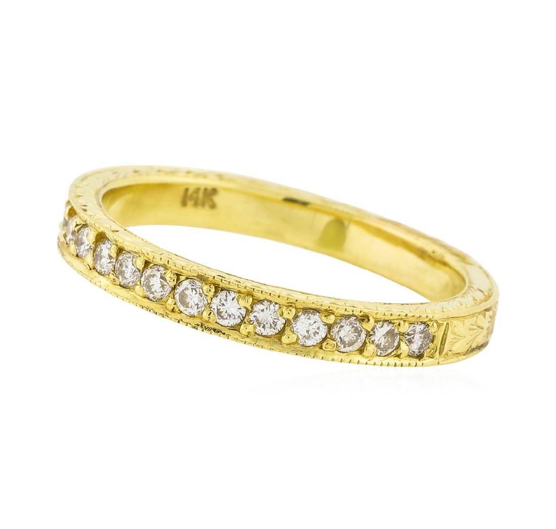 14K Yellow Gold 0.18 ctw Brilliant Round Diamond Ring - 2