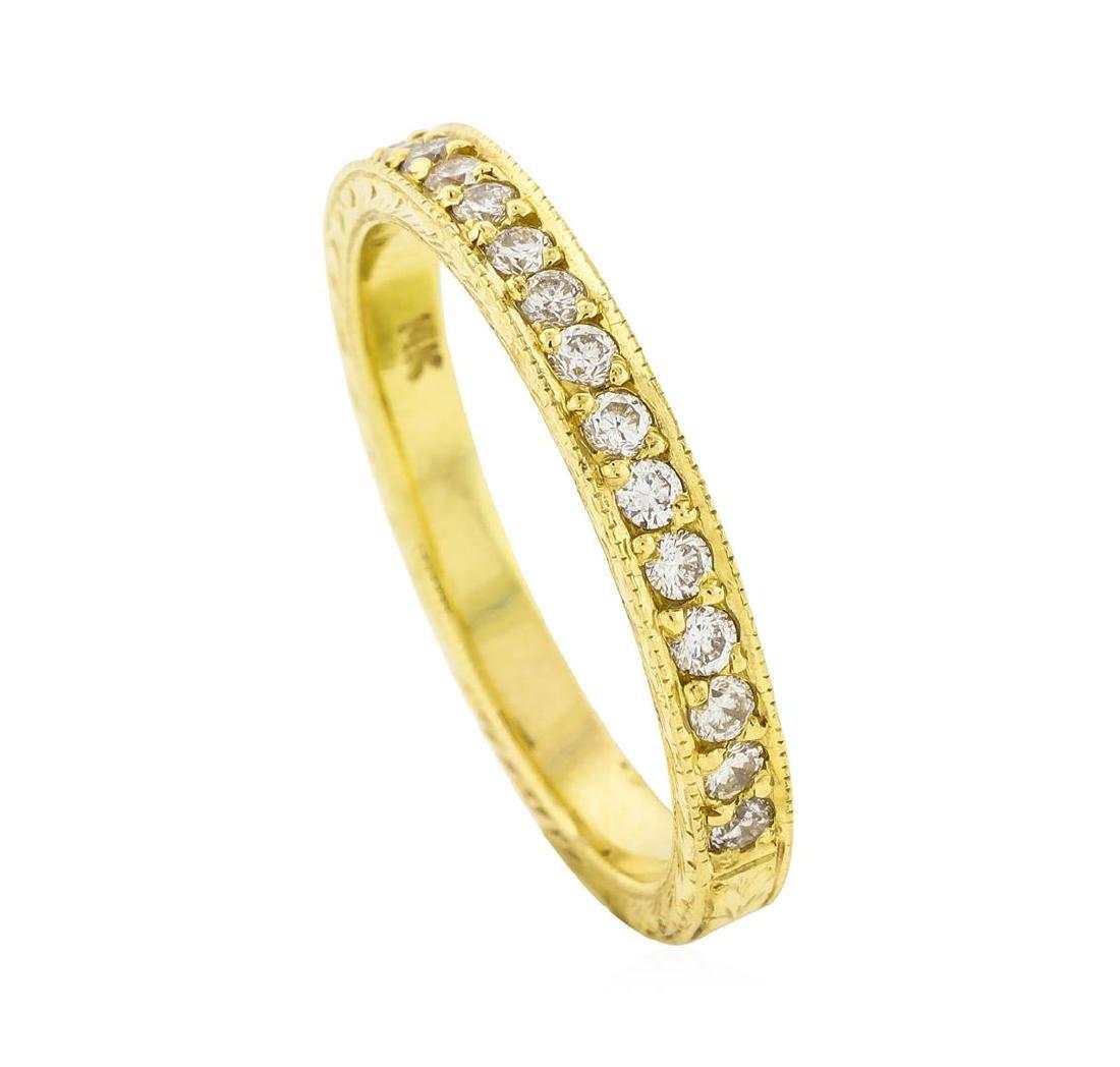 14K Yellow Gold 0.18 ctw Brilliant Round Diamond Ring - 4