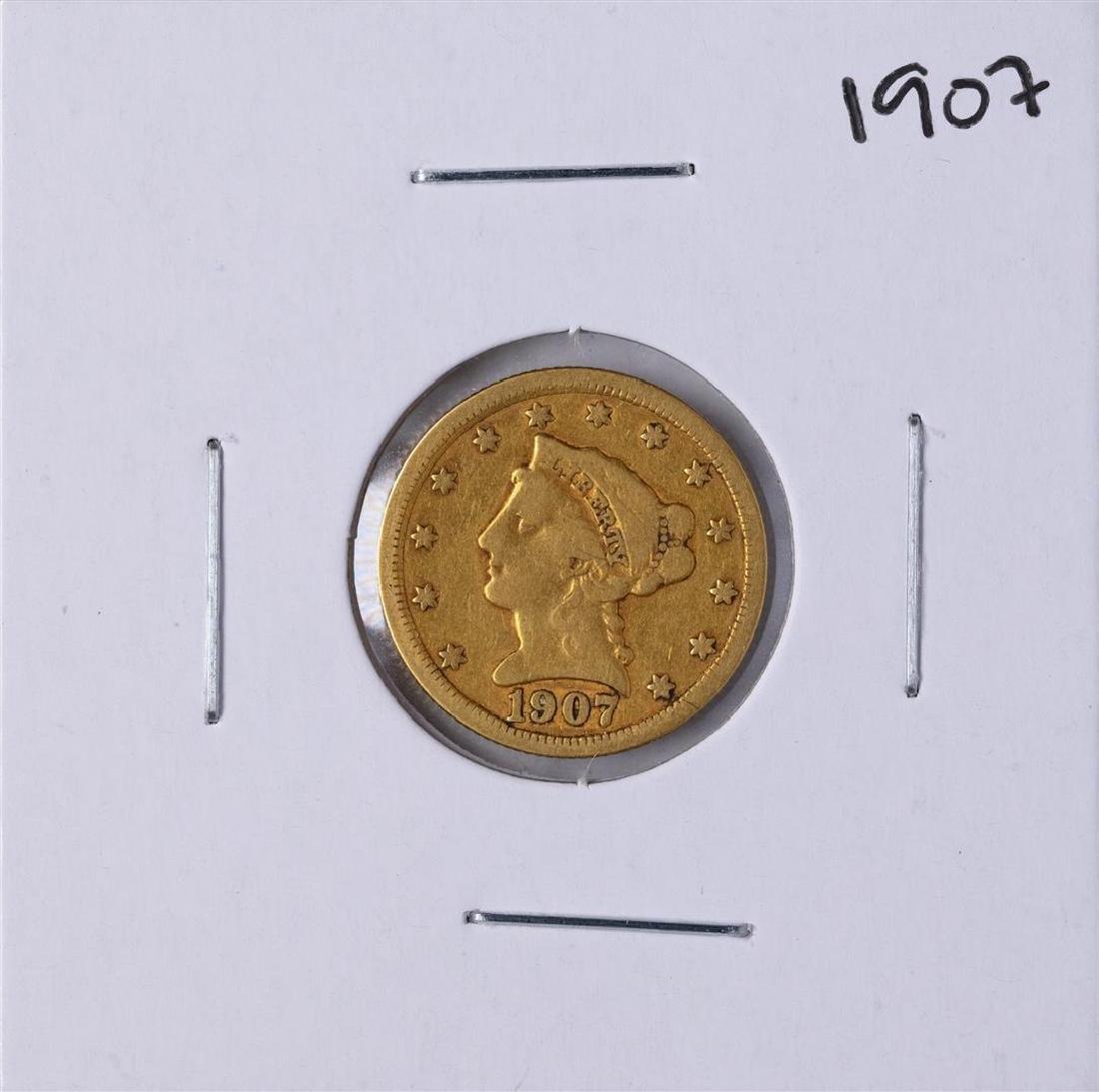 1907 $2 1/2 Liberty Head Quarter Eagle Gold Coin