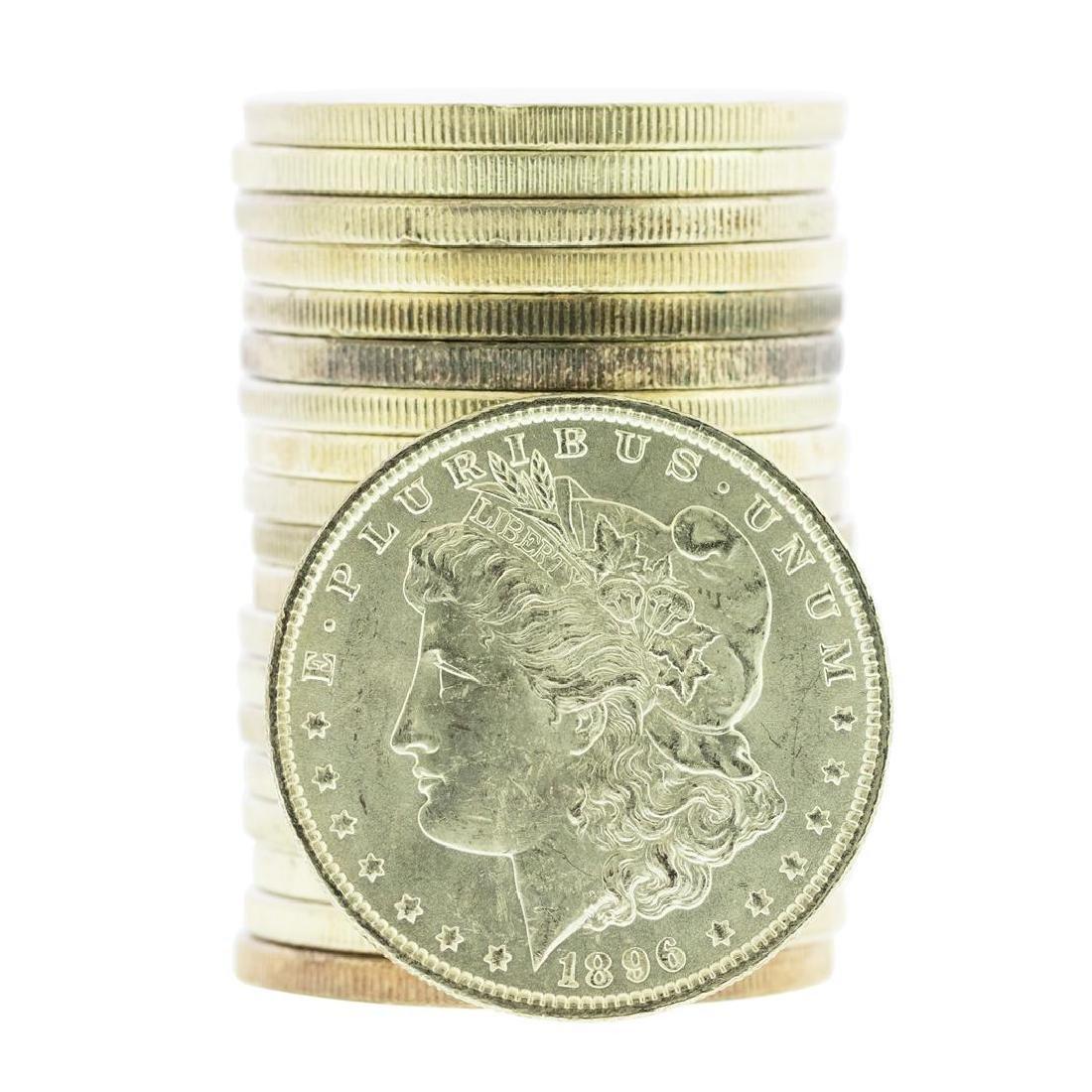 Roll of (20) 1896 $1 Brilliant Uncirculated Morgan