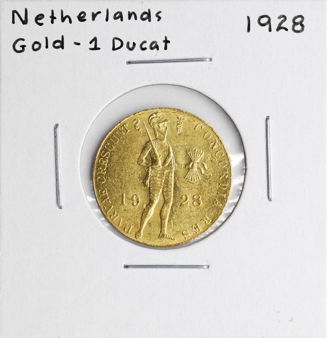 1928 Netherlands Ducat Gold Coin