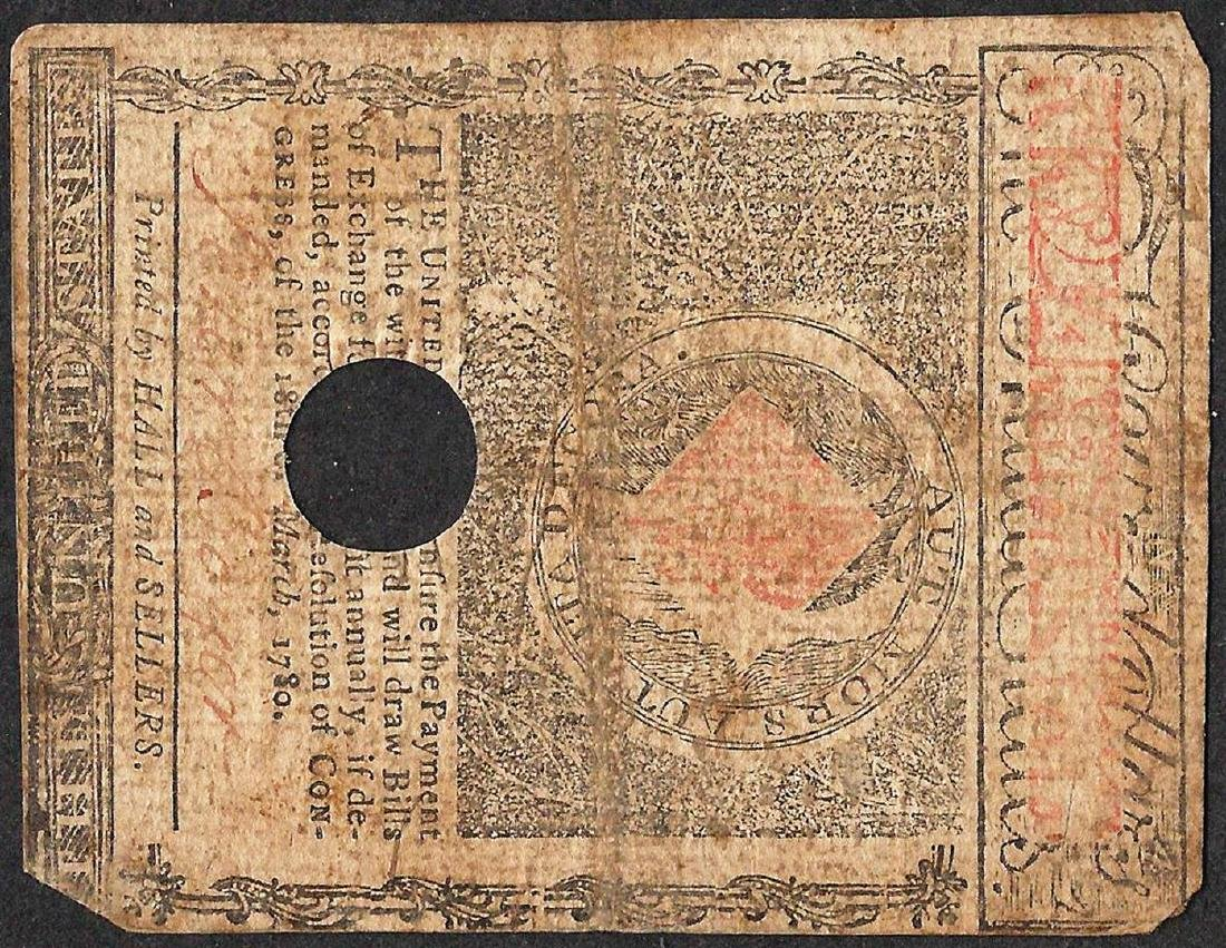 May 5, 1780 $4 Massachusetts Colonial Currency Note - 2