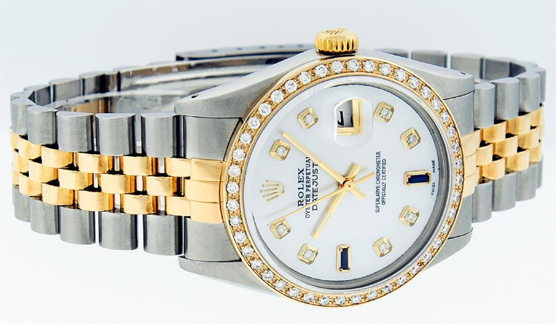 Rolex Men's Two Tone 14K Mother Of Pearl Diamond 36MM - 3