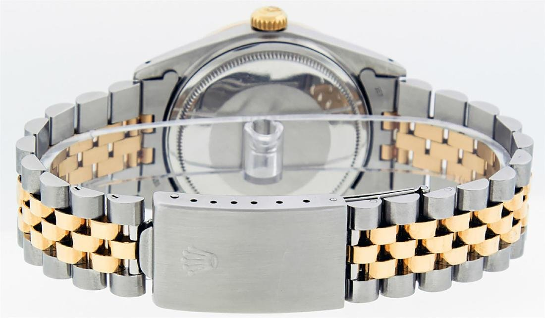 Rolex Men's Two Tone 14K Mother Of Pearl Diamond 36MM - 8