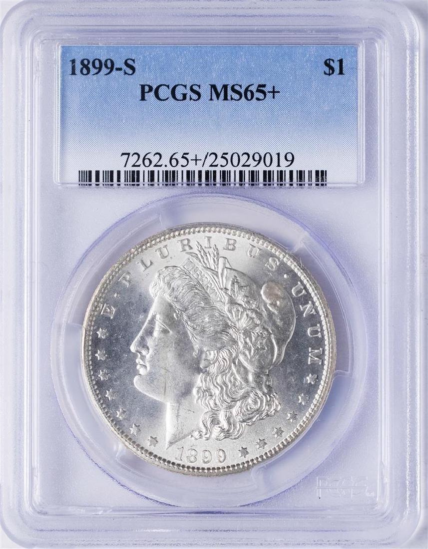 1899-S $1 Morgan Silver Dollar Coin PCGS MS65+