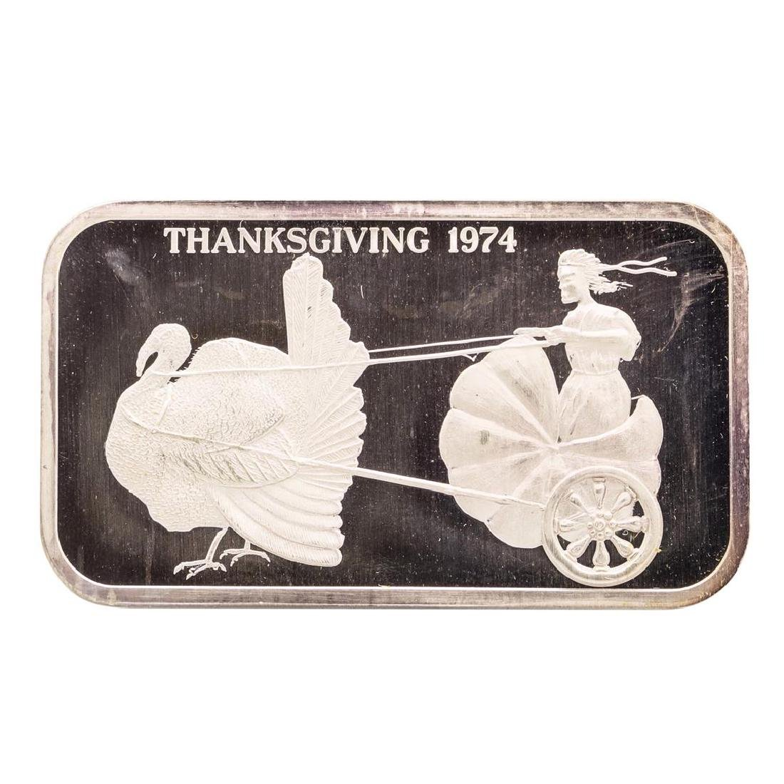 1974 Thanksgiving Madison Mint 1 oz .999 Fine Silver