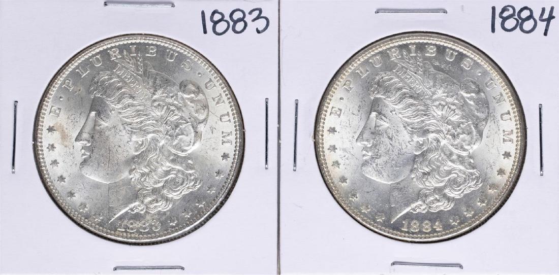 Lot of 1883-1884 $1 Morgan Silver Dollar Coins
