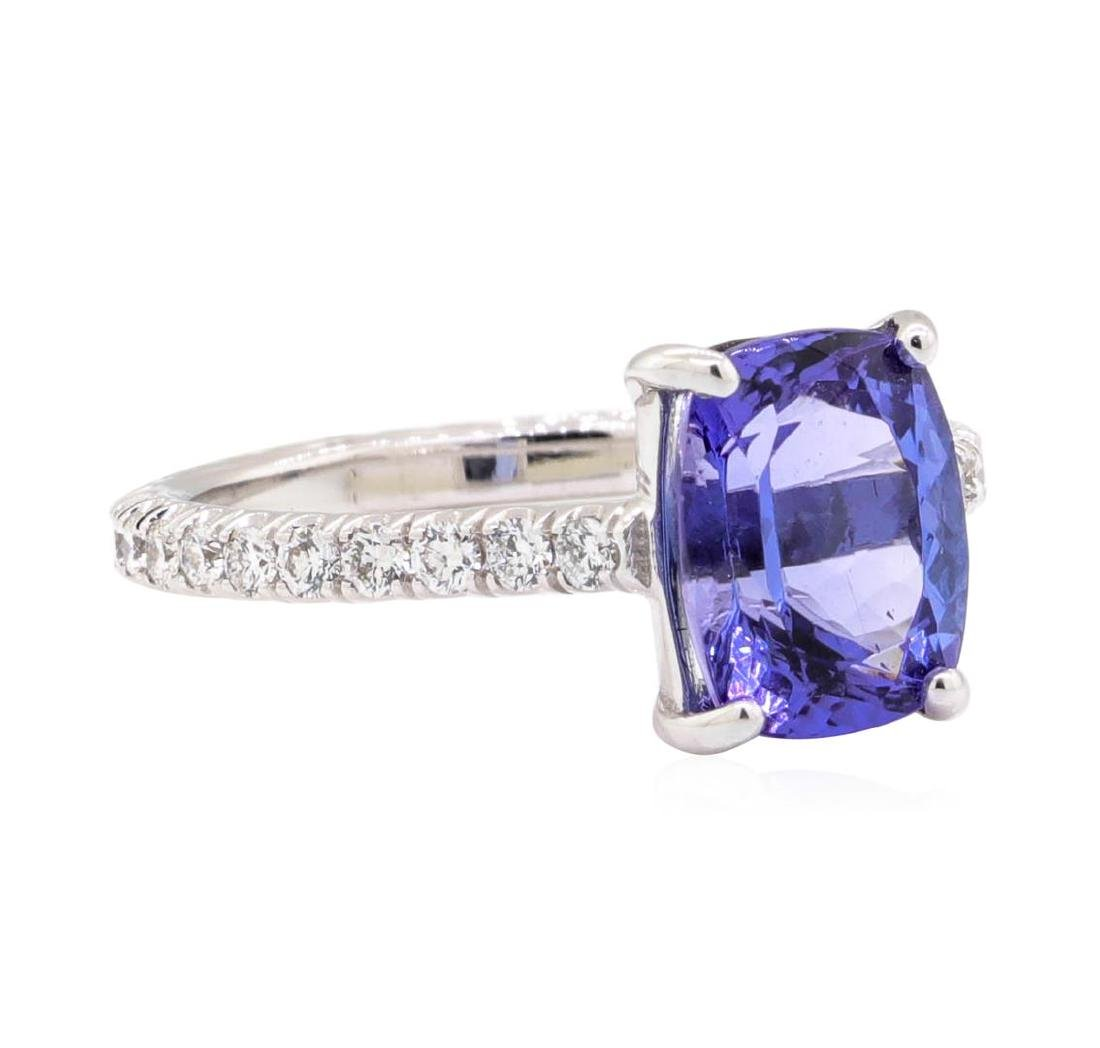 14KT White Gold 2.96 ctw Tanzanite and Diamond Ring