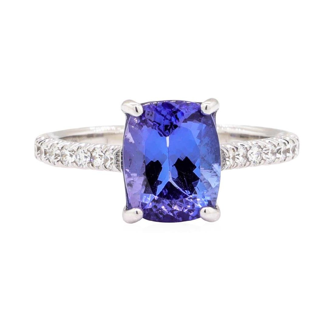 14KT White Gold 2.96 ctw Tanzanite and Diamond Ring - 2