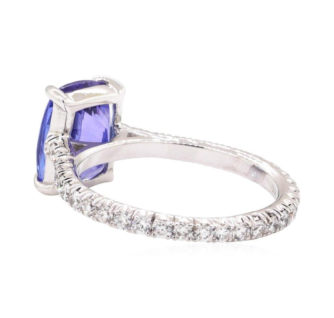14KT White Gold 2.96 ctw Tanzanite and Diamond Ring - 3