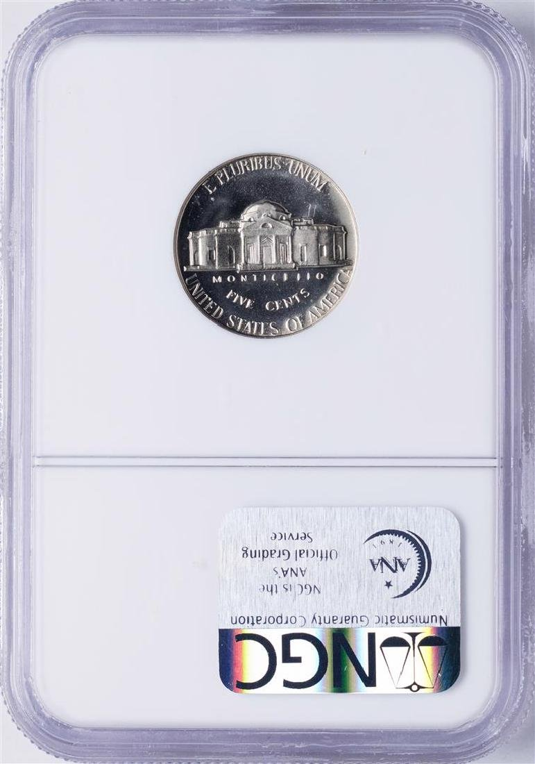 1967 SMS Jefferson Nickel Coin NGC MS66 Cameo - 2