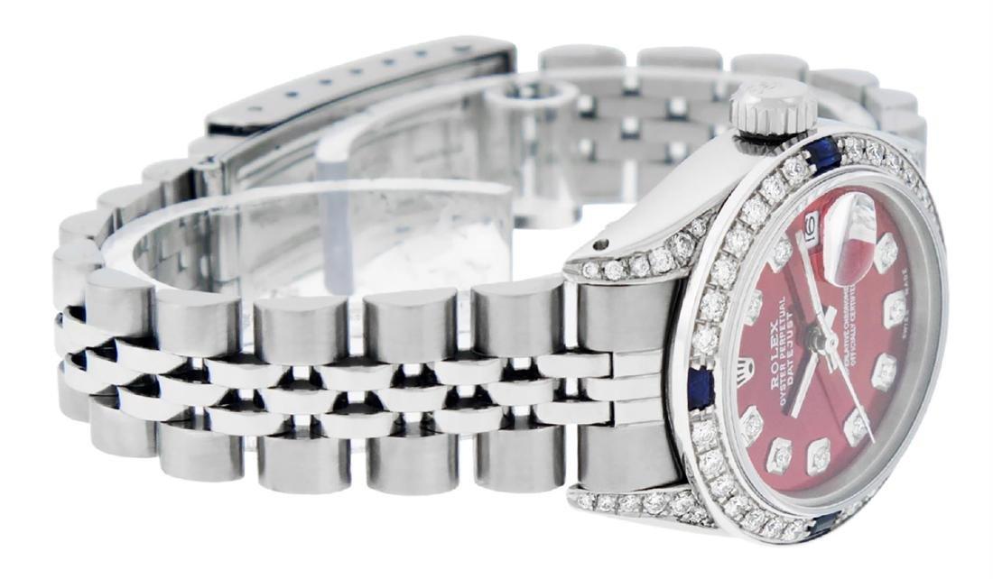 Rolex Ladies Stainless Steel Diamond Lugs & Sapphire - 6