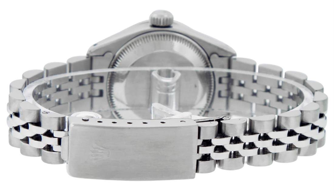 Rolex Ladies Stainless Steel Diamond Lugs & Sapphire - 7