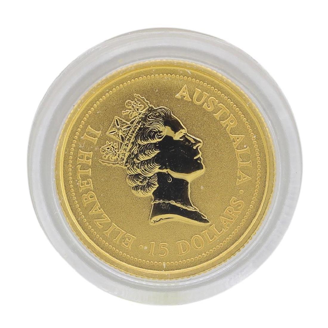 1998 $15 Australia Lunar Year of the Tiger 1/10 oz. - 2