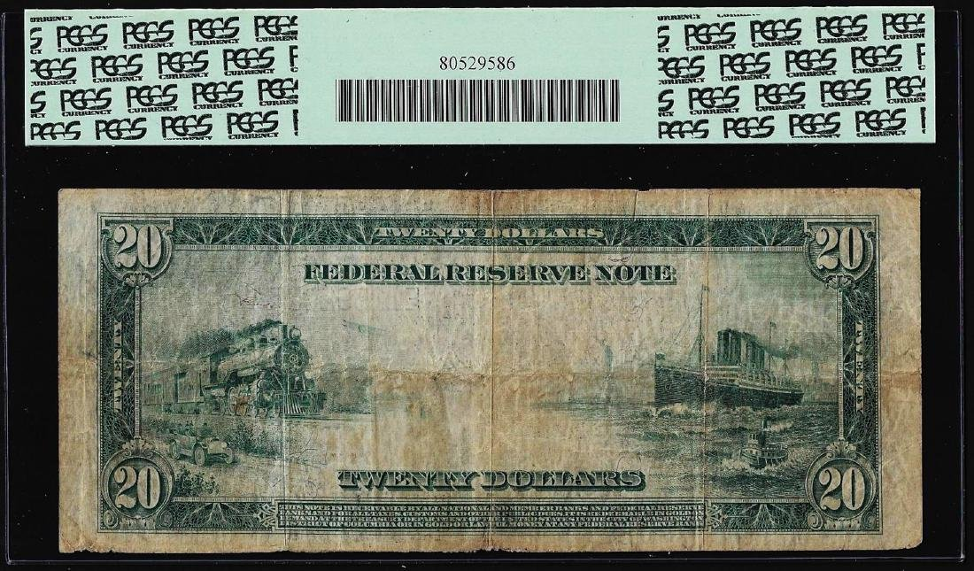 1914 $20 Federal Reserve Note Richmond Fr.983a PCGS - 2