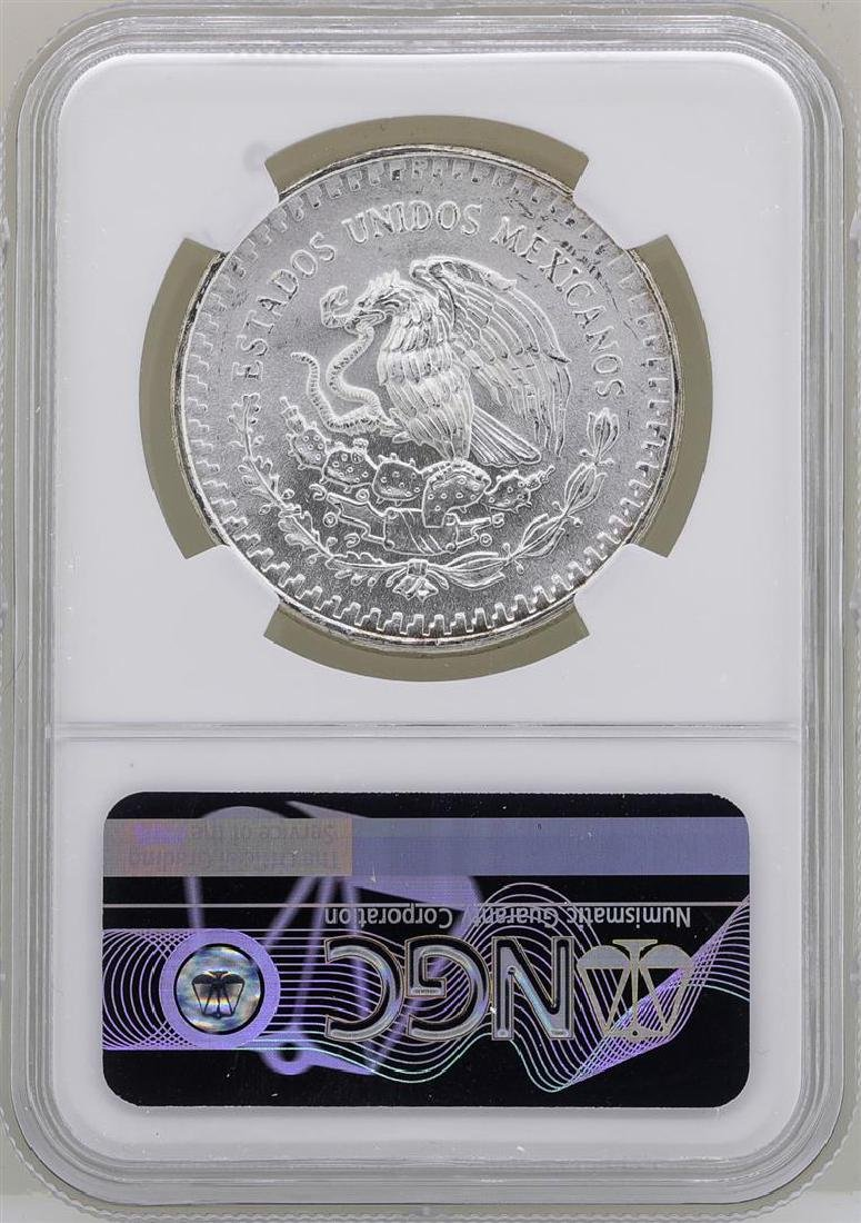 1982Mo Mexico Libertad Onza Doubled Die Reverse Silver - 2