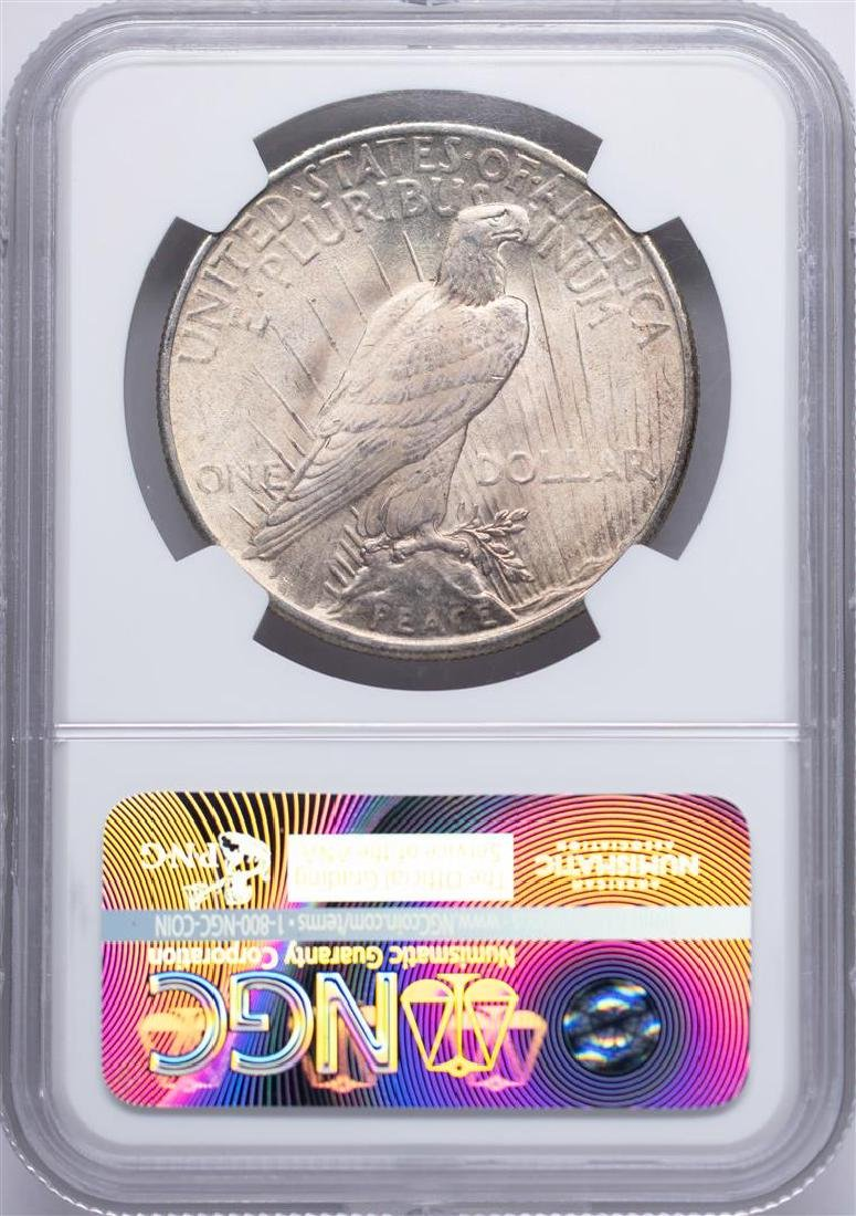 1925 $1 Peace Silver Dollar Coin NGC MS65 Nice Toning - 2