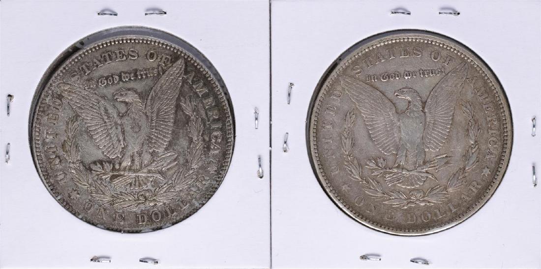Lot of (2) 1878 7TF $1 Morgan Silver Dollar Coins - 2