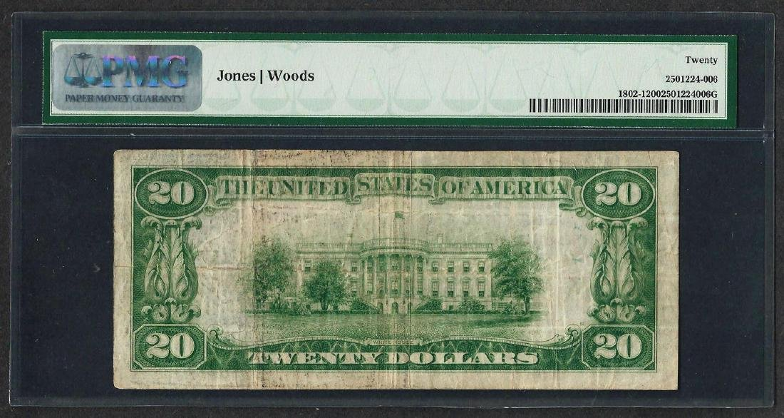 1929 $20 National Currency Note Edwardsville, PA CH# - 2