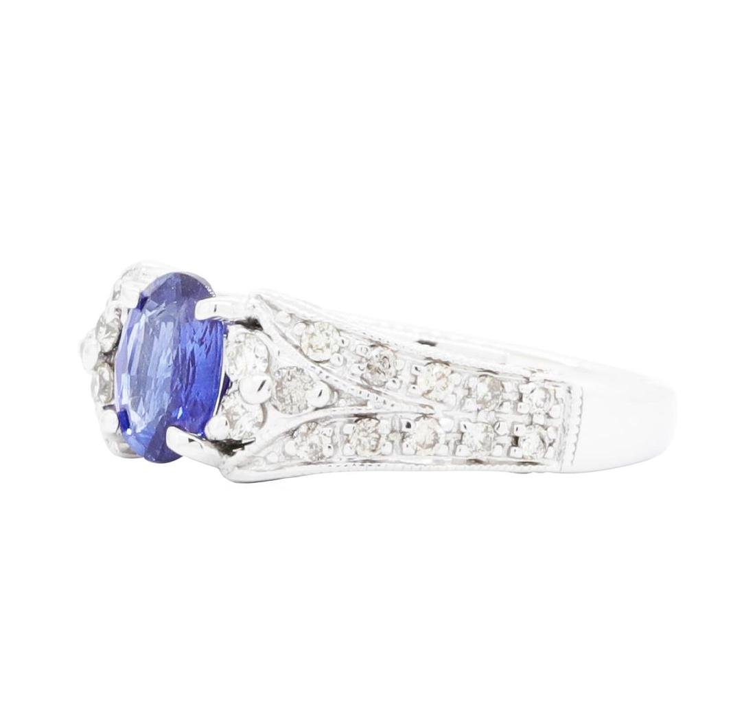 14KT White Gold Ladies 0.87 ctw Sapphire and Diamond - 2