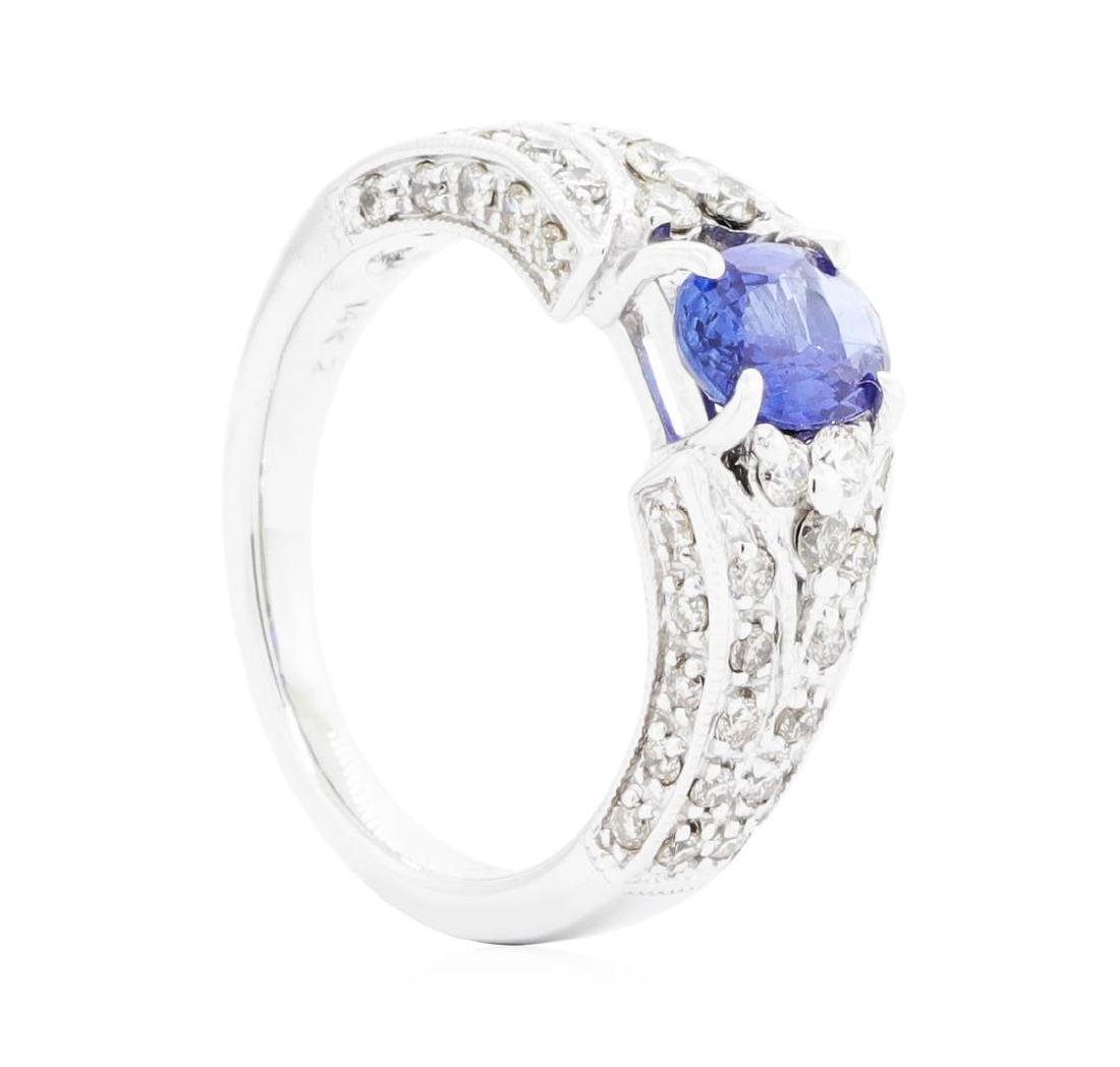 14KT White Gold Ladies 0.87 ctw Sapphire and Diamond - 3