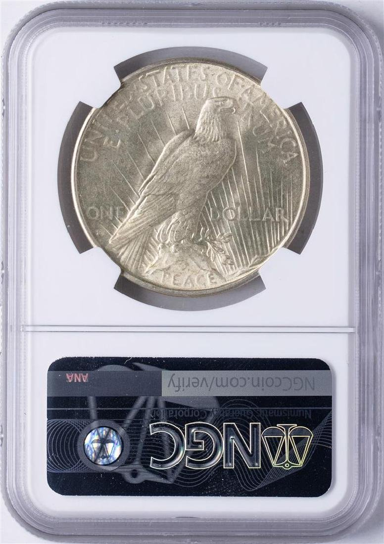1934-D $1 Peace Silver Dollar Coin NGC MS63 - 2