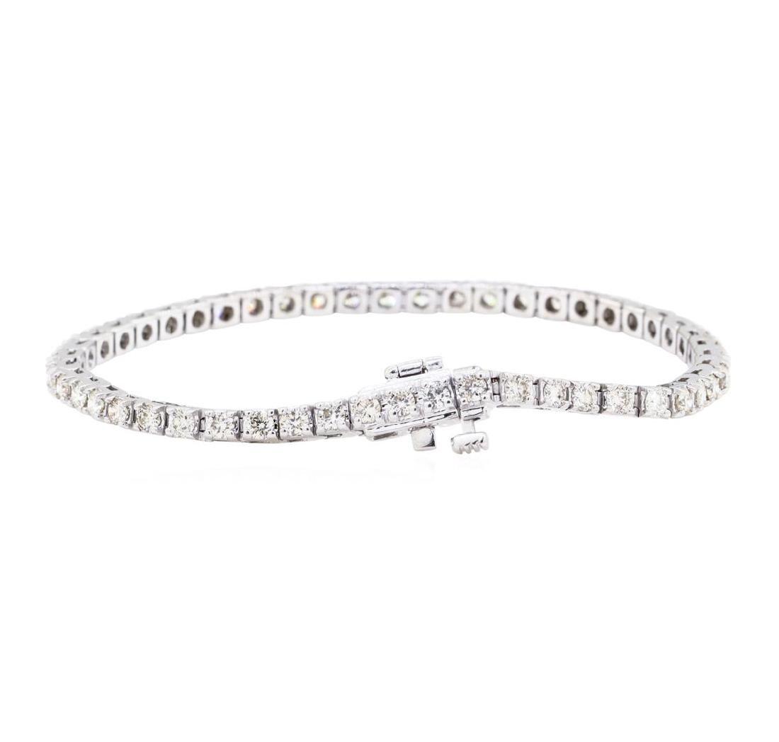 14KT White Gold 3.00 ctw Diamond Tennis Bracelet - 2