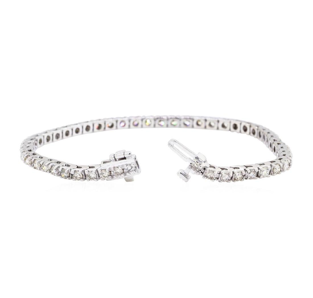 14KT White Gold 3.00 ctw Diamond Tennis Bracelet - 3
