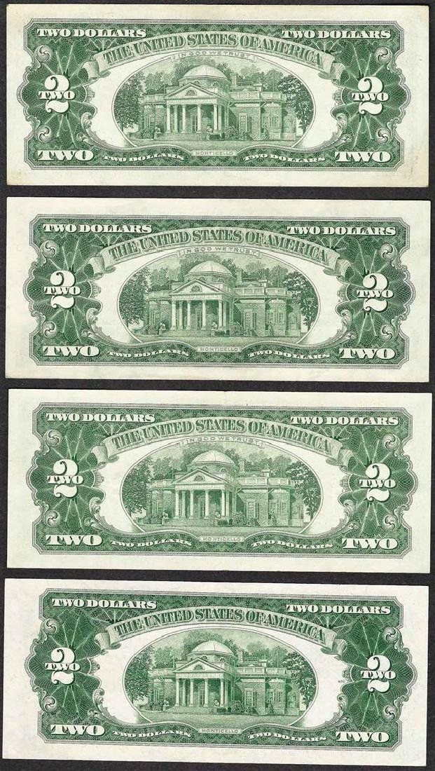 Lot of (4) 1953/1963 $2 Legal Tender Notes - 2