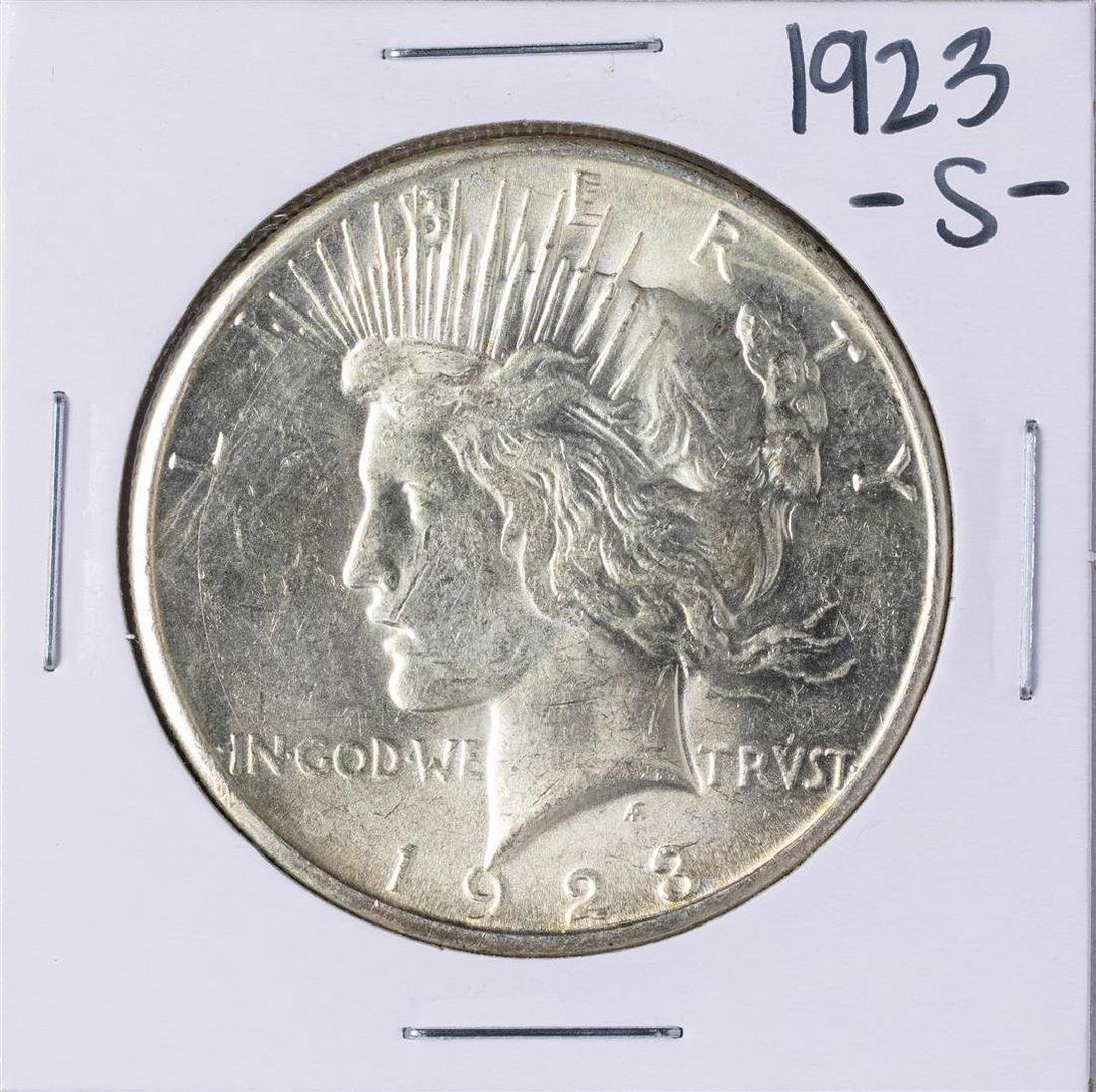 1923-S $1 Peace Silver Dollar Coin