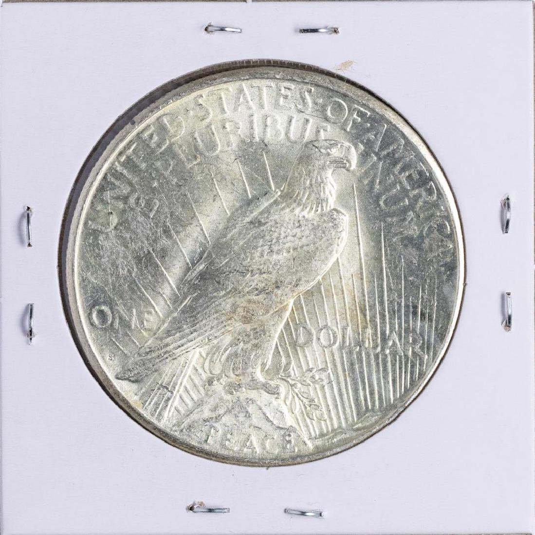 1923-S $1 Peace Silver Dollar Coin - 2