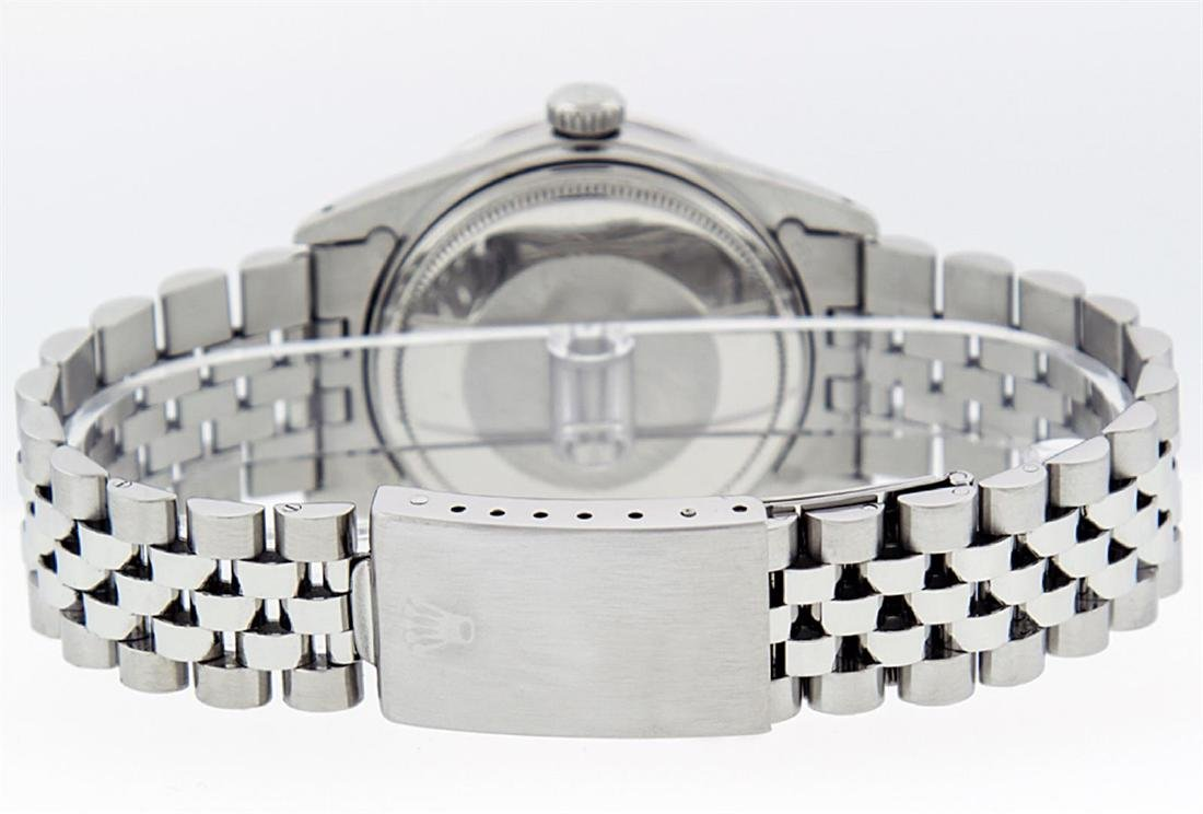 Rolex Men's Stainless Steel Mother Of Pearl Diamond & - 5